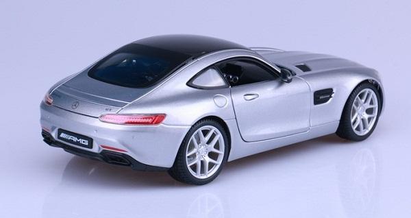 โมเดลรถ โมเดลรถเหล็ก โมเดลรถยนต์ Benz AMG GT silver 4