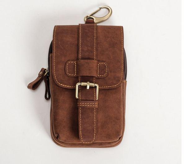 กระเป๋าคาดเอว หนังวัวแท้ กระเป๋าคาดเอว ร้อยเข็มขัดได้ สำหรับผู้ชาย มีช่องซิป 2 ช่อง ใส่โทรศัพท์ กระเป๋าสตางค์ เท่ ๆ สไตล์ วินเทจ ของขวัญ 378611