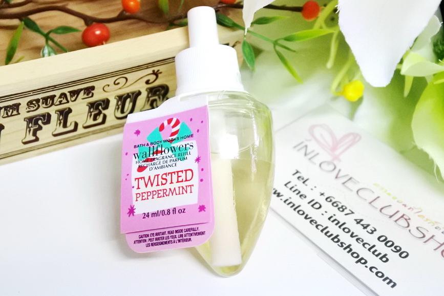 Bath & Body Works / Wallflowers Fragrance Refill 24 ml. (Twisted Peppermint)