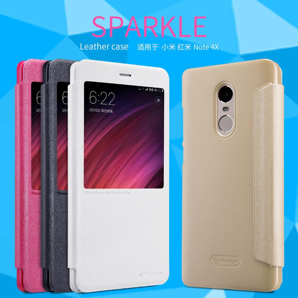 เคส Xiaomi RedMi Note 4X Leather Case Sparkle NILLKIN แท้!!