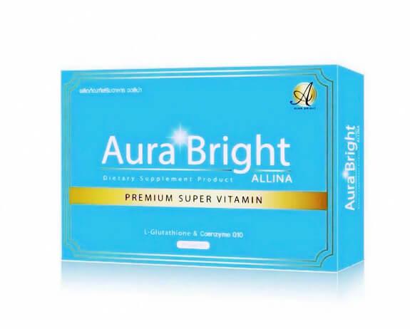 ออร่า ไบรท์ คอลลาเจน พลัส Aura Bright Apple Collagen Plus Premium Collagen 12,000 mg. 1 กล่องมี 10 ซอง