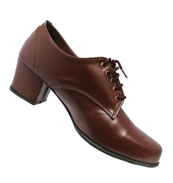 รองเท้าส้นสูงผู้หญิง หนังสีน้ำตาล เบอร์ 36-41