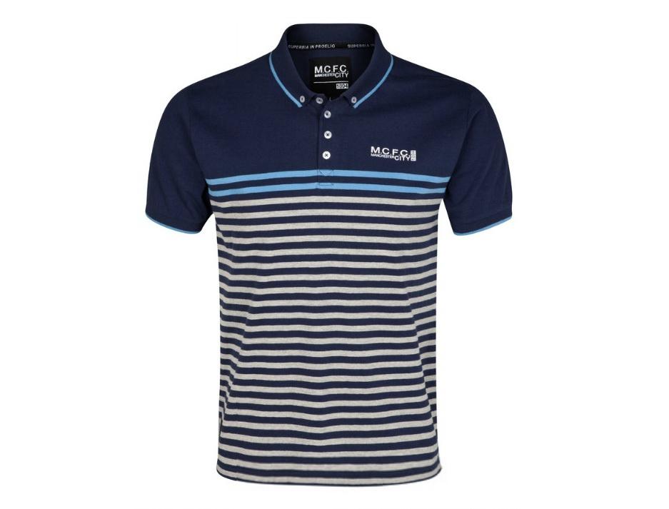 เสื้อโปโล แมนซิตี้ ของแท้ 100% Manchester City Lineup Polo Top - Navy/Denim จากสโมสรแมนซิตี้ UK สำหรับสวมใส่ เป็นของฝาก ที่ระลึก ของขวัญ แด่คนสำคัญ