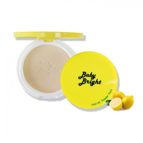 Karmart Baby Bright Anti-AC Powder Pact แป้งเลม่อน แป้งอัดแข็งสีเนื้อนวลเนียน อุดมไปด้วยสารสกัดจากเลม่อนและทีทรีออยล์ ช่วยดูดซับความมันบนใบหน้า และลดการผลิตน้ำมันส่วนเกินสาเหตุของการเกิดสิว พร้อมเติมความชุ่มชื่นให้ผิวสวยใส เปล่งปลั่ง