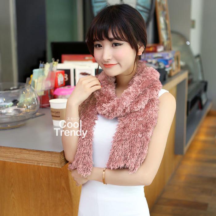 ผ้าพันคอแฟชั่น Magic Scarf - ผ้าพันคอแปลงร่าง เนื้อผ้าไลคราสี Pink Cherry