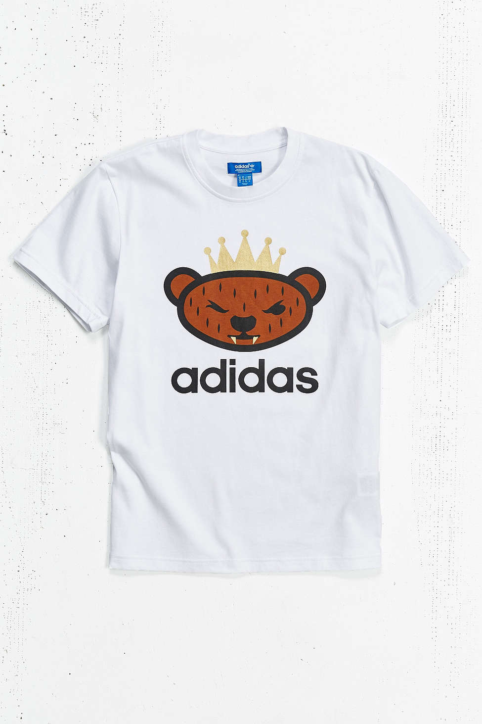 (พรีออเดอร์-- USA) adidas Originals By NIGO Brown Bear Logo Tee