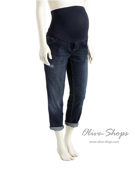 กางเกงยีนส์คนท้องขายาวOldnavy Materniy รุ่น cropped boy friend jeans