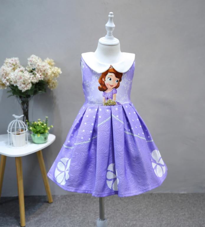 ชุดกระโปรงผ้าพิมพ์ลาย แต่งคอบัว เจ้าหญิงโซเฟีย ผ้าดีงานสวยมากค่ะ