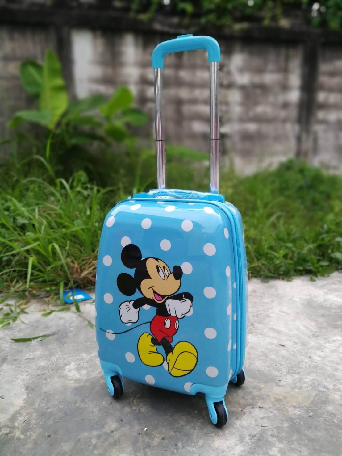 (16 นิ้ว) กระเป๋าเดินทางล้อลากโพลี่คาบอนเนตเนื้อเงา 4 ล้อมุนได้รอบทิศ 360 องศา (ส่งฟรีธรรมดา / ems. 150 บ.)