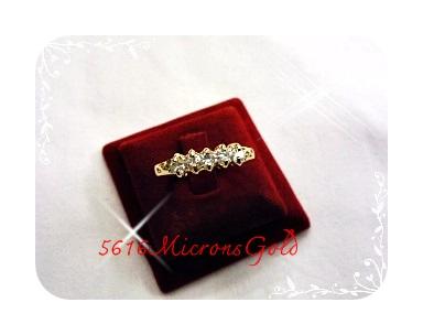 แหวนเพชรGold Plated 2Microns