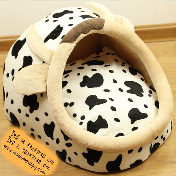 ที่นอนสุนัข โดมรูปวัว (พร้อมส่ง)