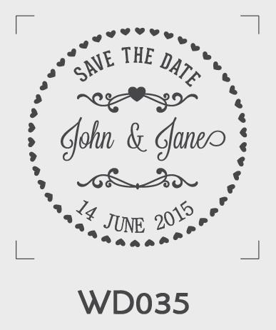 ตราปั๊มงานแต่ง WD035