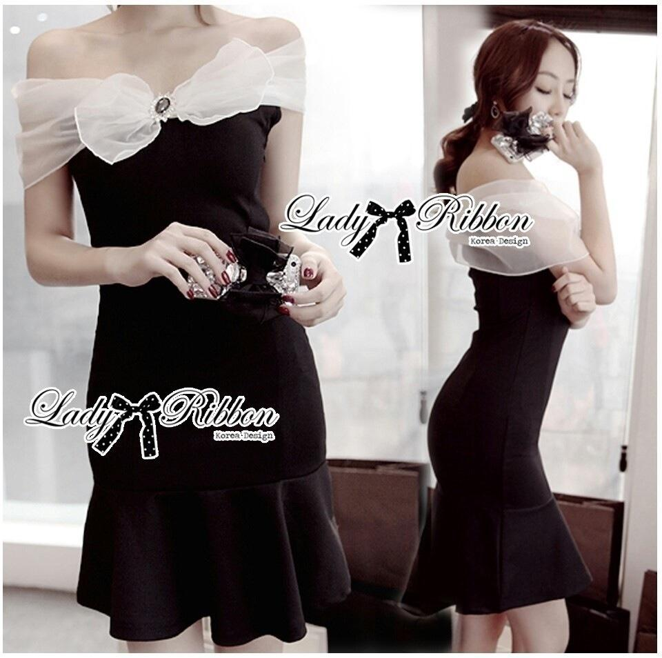 Lady Ribbon's Made Lady Clair Haute Couture Ribbon Body Con Dress