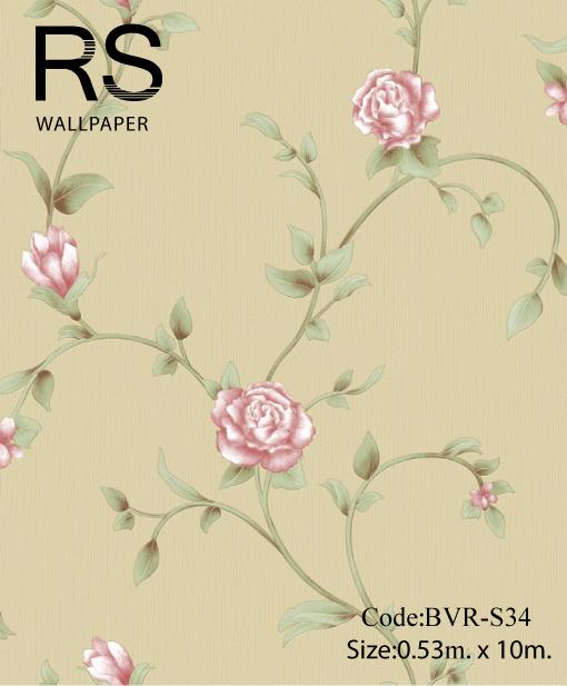วอลเปเปอร์ลายดอกไม้ BVR-S34