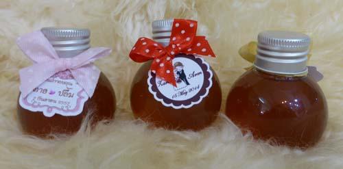 PN006 น้ำผึ้งใส่ขวดกลมมะนาวฝาเงิน 50 ซีซี