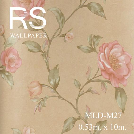 วอลเปเปอร์ลายดอกไม้ MLD-M27