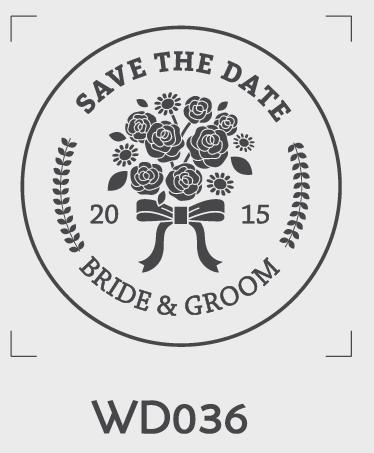 ตราปั๊มงานแต่ง WD036