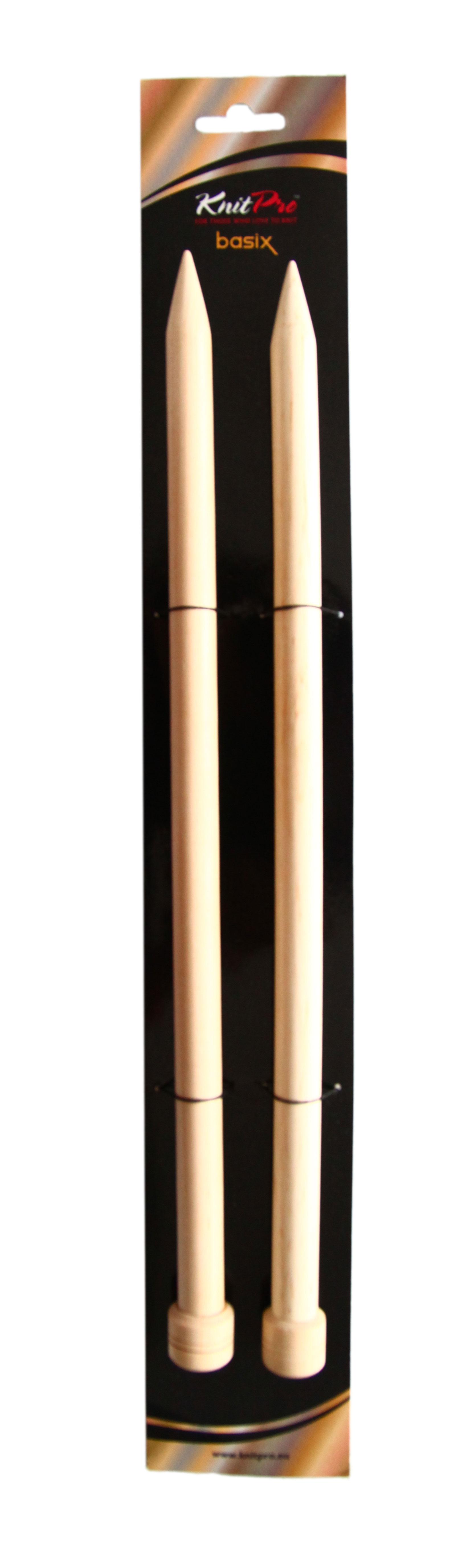 ไม้นิตตรง Basix Brich Straight Needles 15.00 mm. (set of 2)