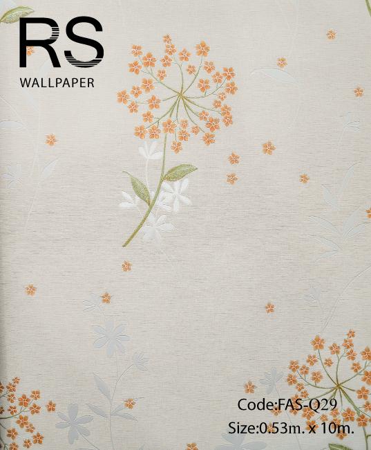 วอลเปเปอร์ลายดอกไม้ FAS-Q29