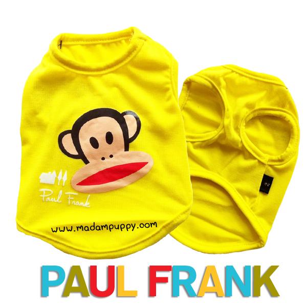 (สินค้าหมดรุ่น) เสื้อกล้ามสุนัข Paul Frank สีเหลือง รุ่น 7 สี 7 วัน พร้อมส่ง