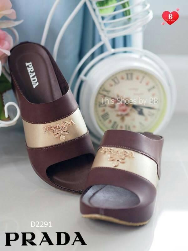 Mini Wedged Two-Tone Soft รองเท้าลำลองส้นเตารี