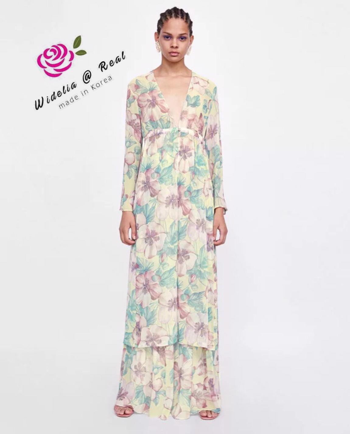เสื้อคลุมลายดอกไม้โทนสี สวยน่ารัก