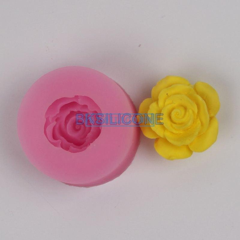 โมล พิมพ์ซิลิโคน พิมพ์วุ้น รูปดอกกุหลาบ (ไซส์เล็ก)