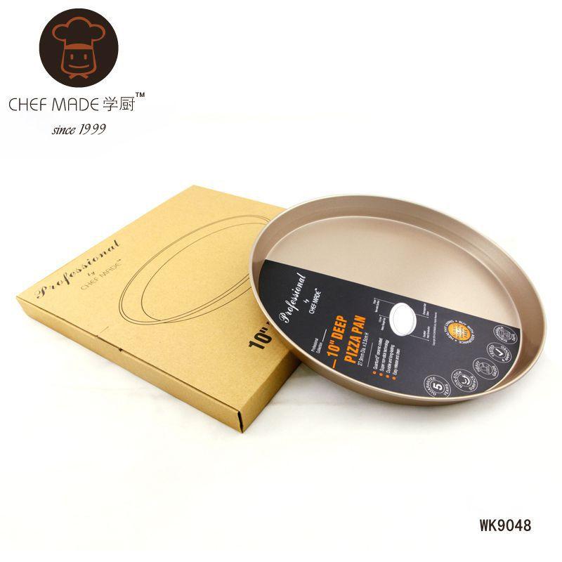Chef Made แม่พิมพ์พิซซ่า เทฟล่อน สีทอง 10 นิ้ว