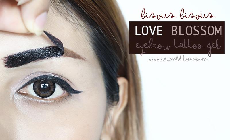 BISOUS BISOUS Love Blossom Eyebrow Tattoo Gel #2 Dark Brown สูตรกันน้ำ 100% คิ้วเป๊ะ คมชัด