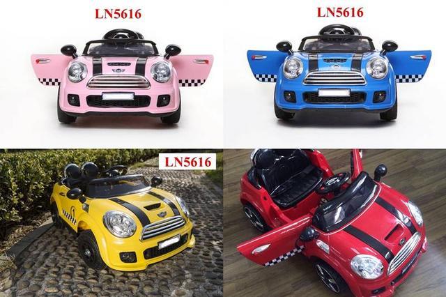 ส่งฟรี รถแบตเตอรี่มินิคูเปอร์ รุ่น LN5616-2แบต+2มอเตอร์ -รุ่นเปิดประตูได้