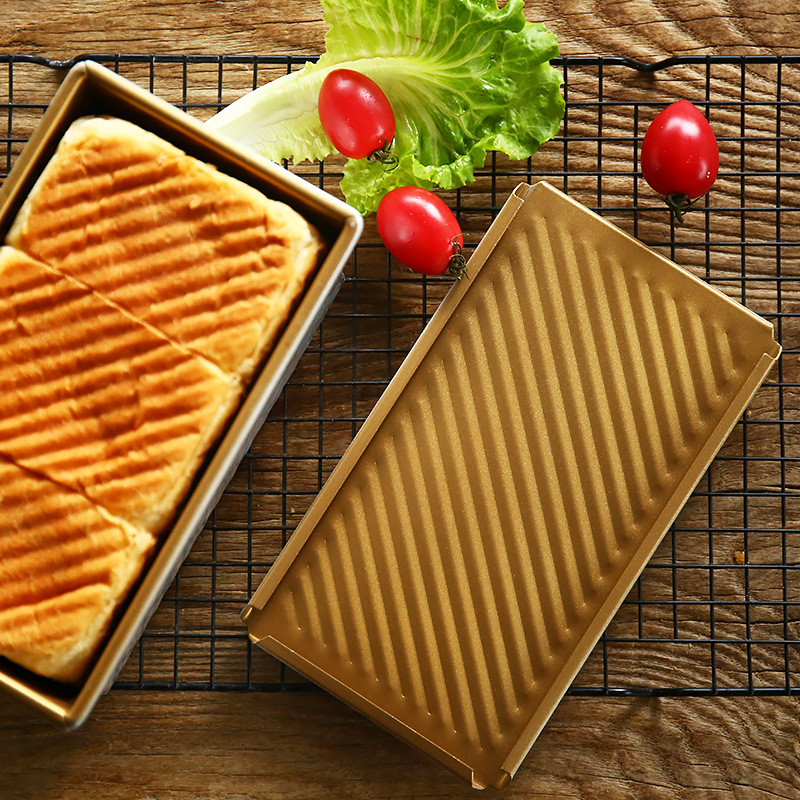 แม่พิมพ์ขนมปัง ฝาปิด เทฟล่อน (ลาย) Honey Tost 20.5*13.5*7cm.