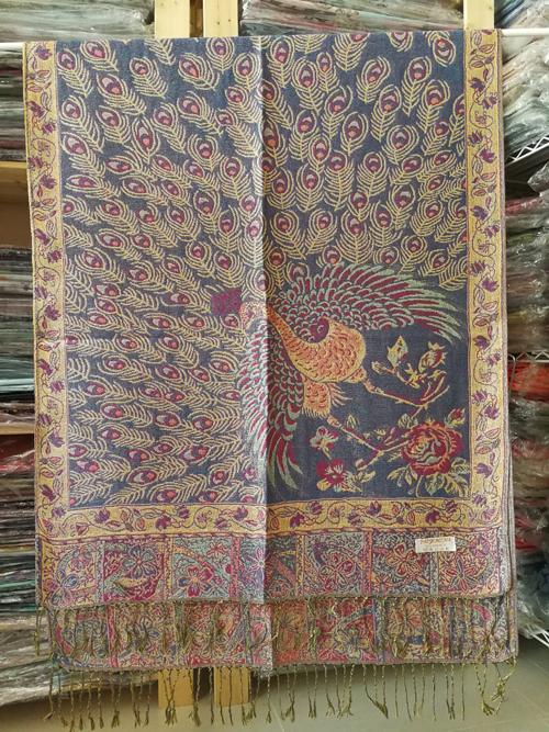 ผ้าพันคอ Pashmina พาสมีน่า ลาย ไทย PS02046T