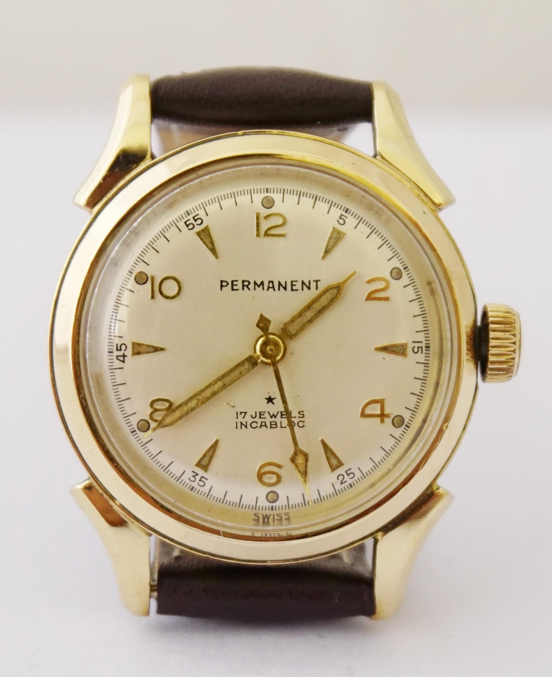 นาฬิกาเก่า PERMANENT ไขลาน
