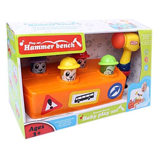 ของเล่นตอกทุบ ฆ้อนทุบตัวตุ่น Hammer Bench Play set
