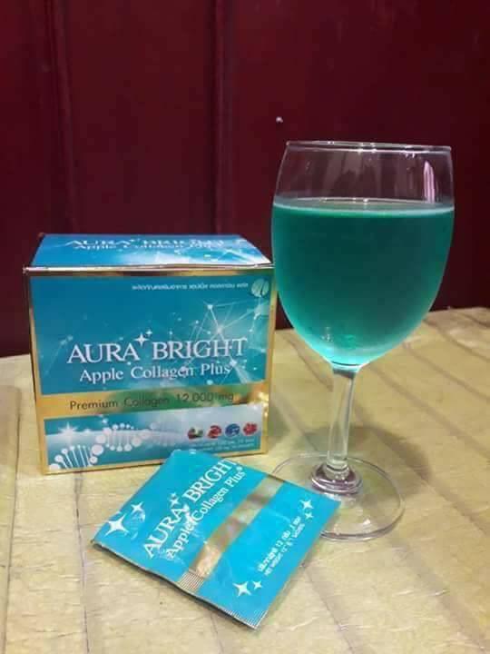 Aura Bright Apple Collagen Plus ออร่า ไบร์ท แบบชง