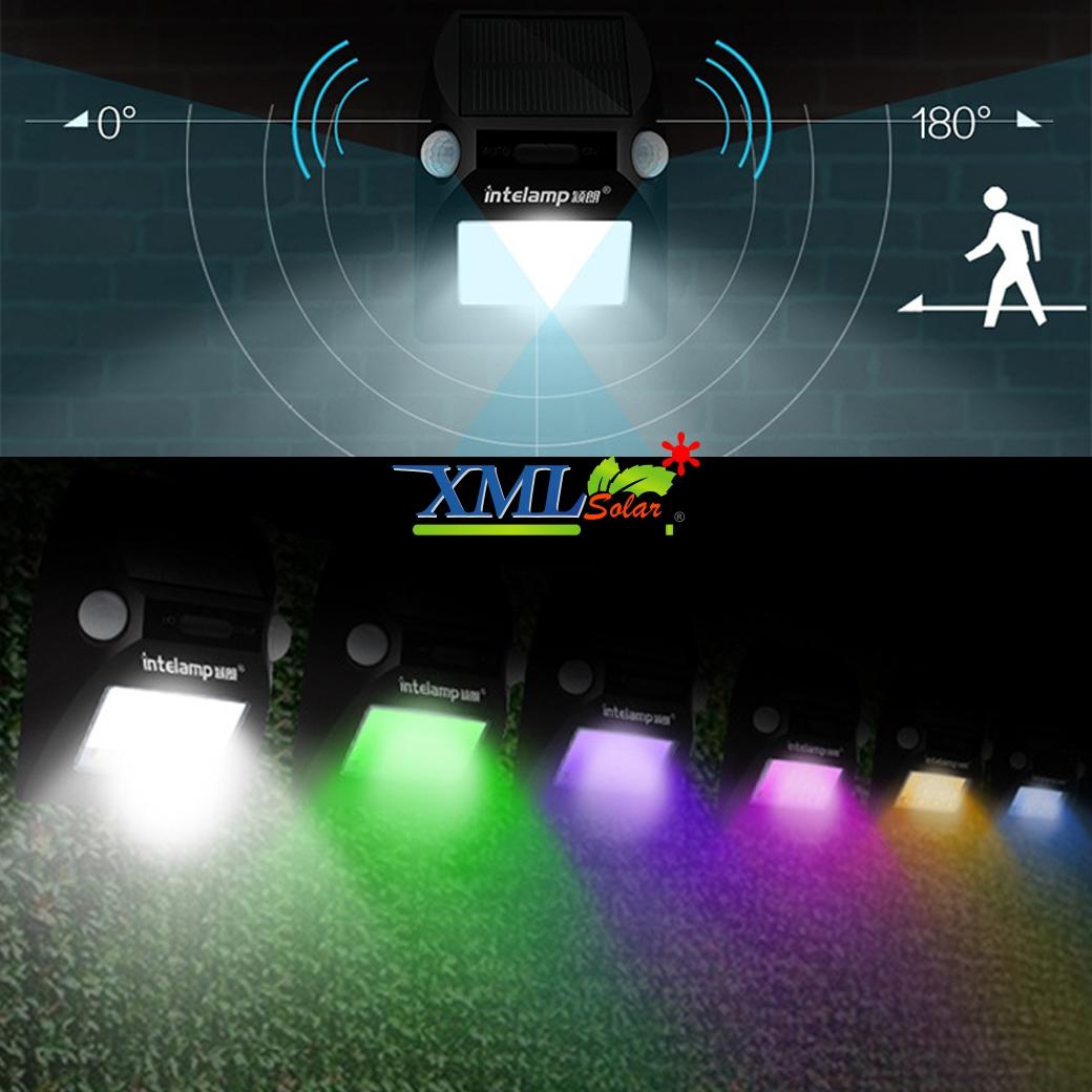 โคมไฟโซล่าเซลล์ ติดผนัง Motion 2 ทิศทาง 12 SMD LED (2 in 1) ตัวเล็ก