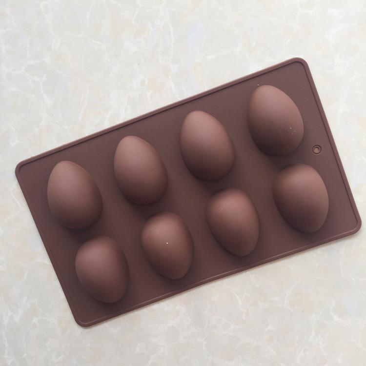 พิมพ์ซิลิโคน รูปไข่ 8 ช่อง