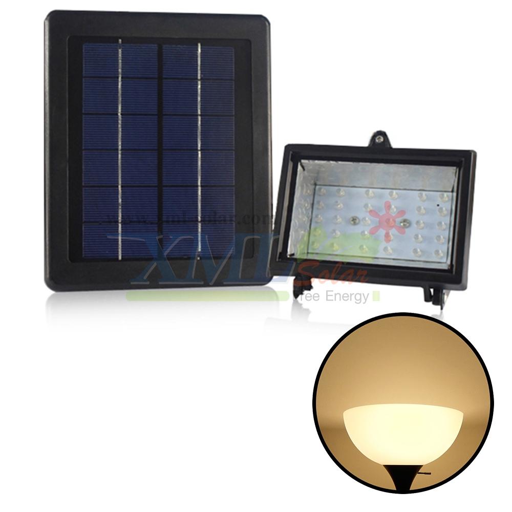 ไฟสปอตไลท์โซล่าเซลล์ 30 LED (เเสง : เหลืองวอมไวท์)
