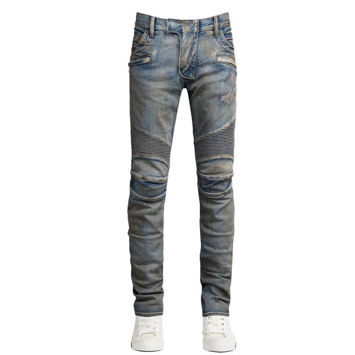 กางเกงยีนส์Balmain Distressed Biker Denim Jeans