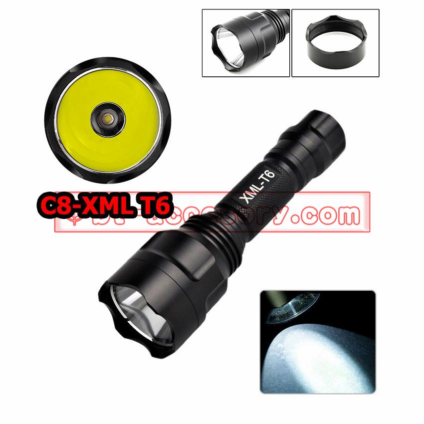 UltraFire Flashlight high power C8 LED CREE XML T6 ไฟฉายความสว่างสูง 5 โหมด
