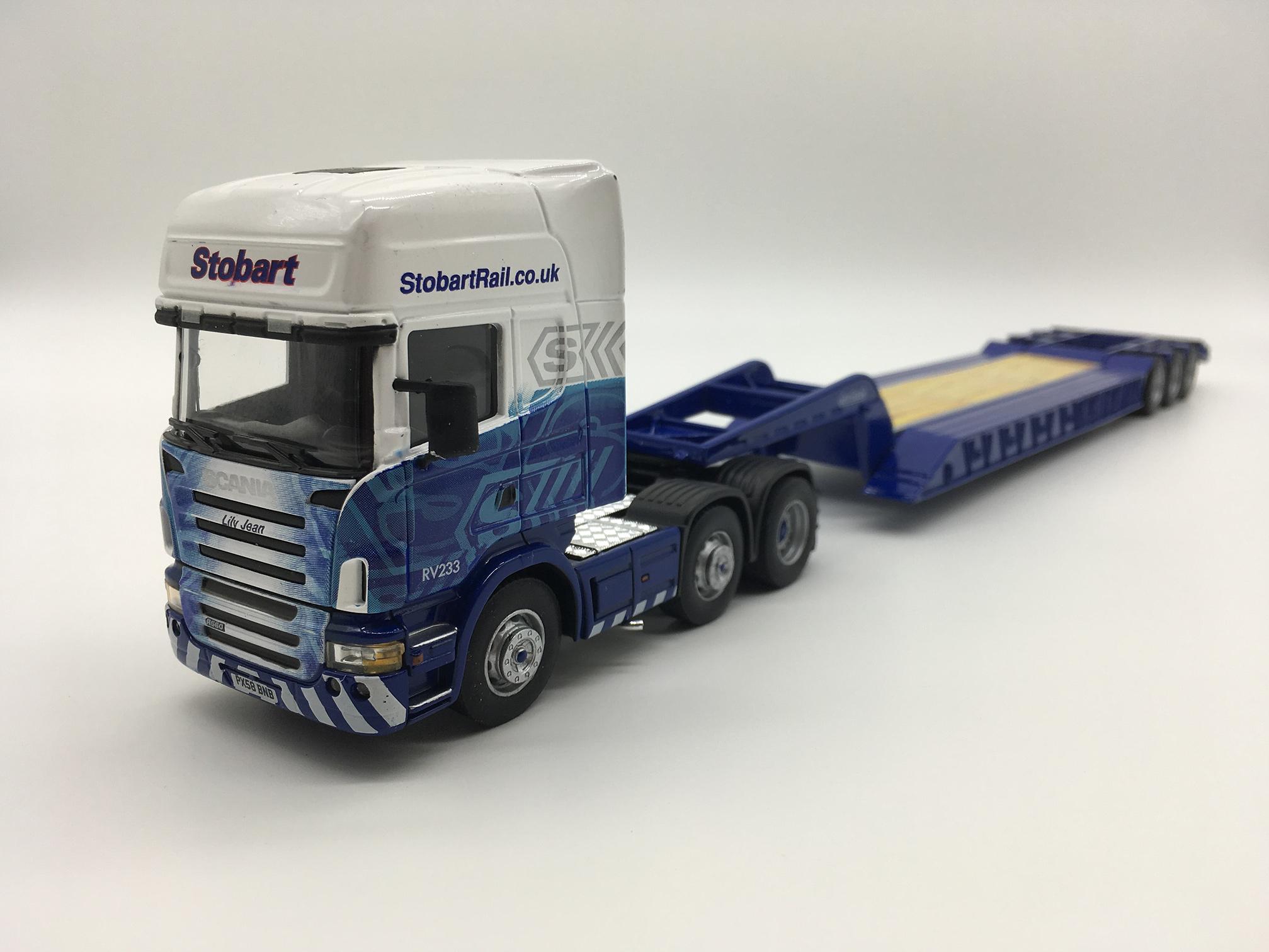 โมเดลรถหัวลาก Scania Nooteboom Low Loader Eddie Stobart