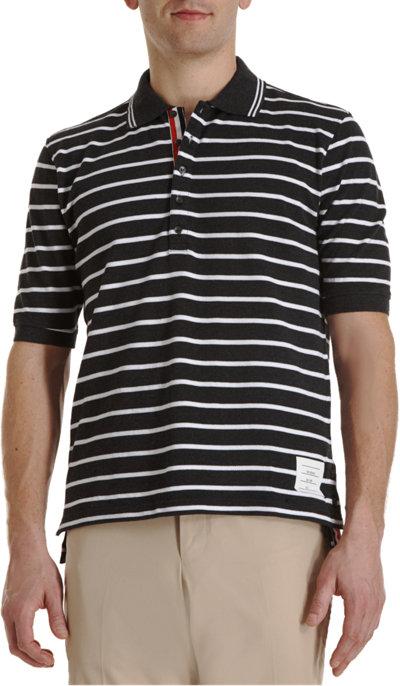 เสื้อThom Browne Five Button Stripe Polo