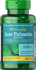 Saw Palmetto Extract 320 mg รักษาผมร่วงจากฮอร์โมนเพศชาย [Puritan's Pride]