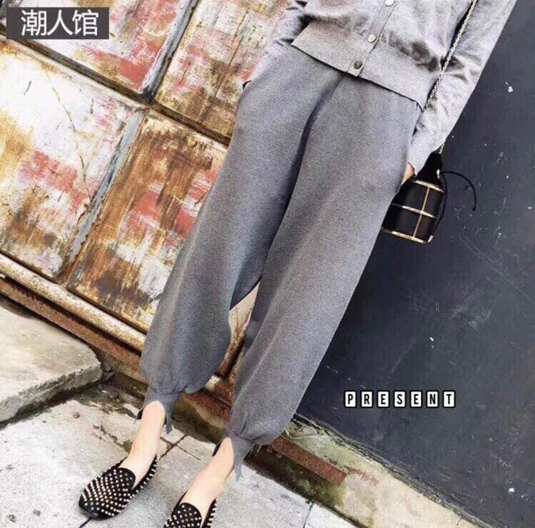 เสื้อผ้าแฟชั่นเกาหลีพร้อมส่ง กางเกงทรงฮาเลม เนื้อแน่น งานผ้าดี ทรงเป๊ะ