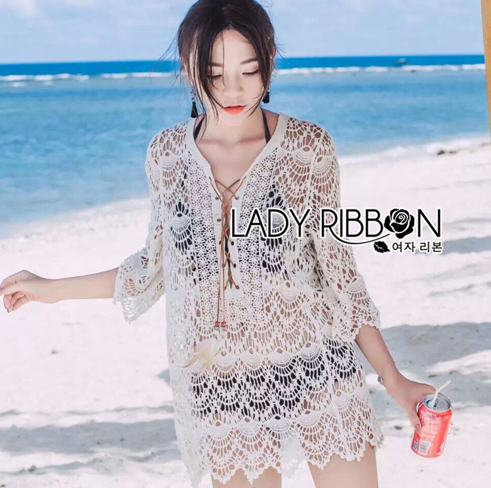 Naomi Beach Summer Style White Crochet Dress