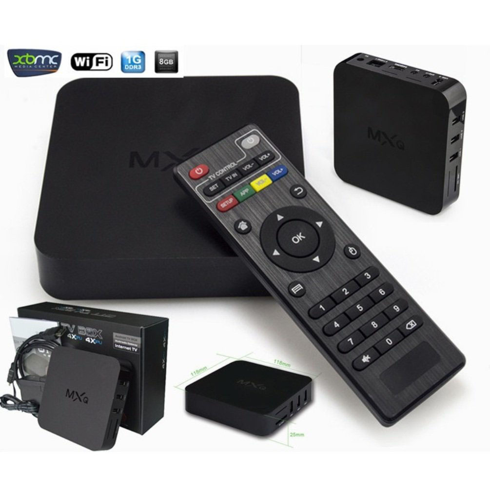 กล่อง Smart TV Android Smart TV Box MXQ Quad Core Full HD 1080P