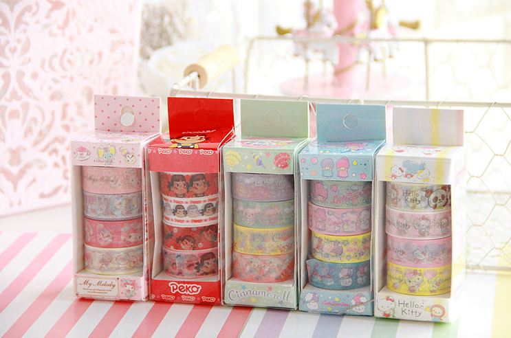 Sanrio Masking Tape Box (Set 4 pieces)