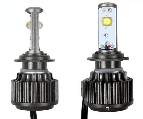 ไฟหน้า LED ขั้ว H7 Cree 2 ดวง 30W Turbo V16