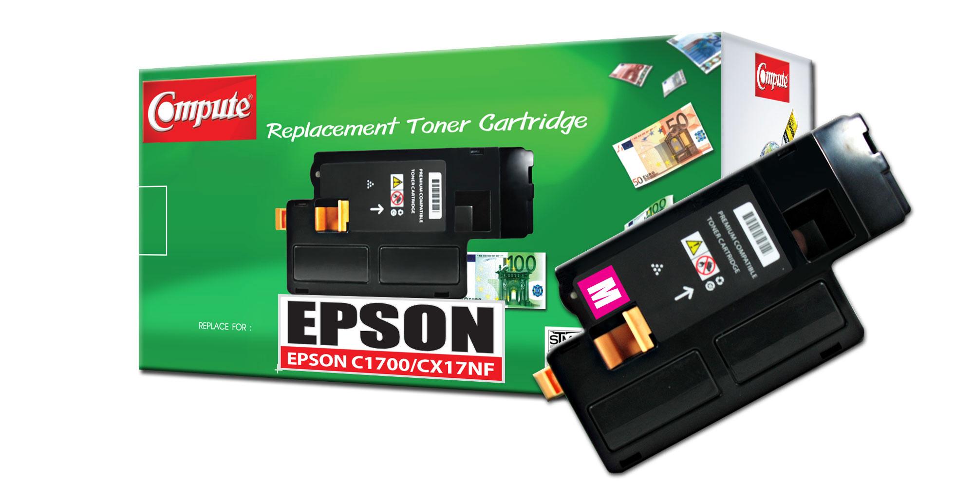 ตลับหมึกเลเซอร์ EPSON C13S050612 (Magenta) Compute (Toner Cartridge)