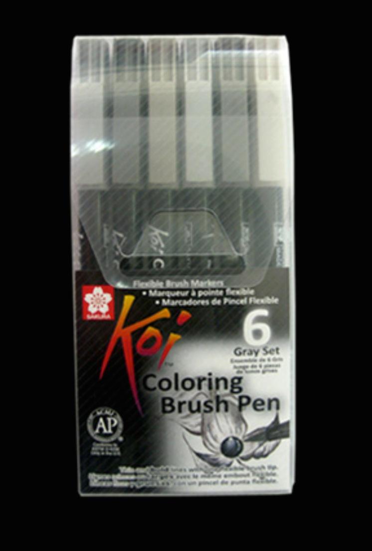 Set 6 - SAKURA Koi Brush Pen ปากกาพู่กัน โคอิ